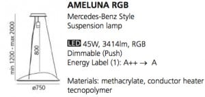 Artemide AMELUNA RGB Mercedes-Benz Style small 7