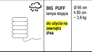 Lampa stojąca BIG PUFF  small 1