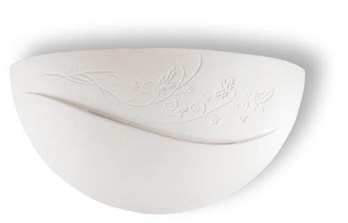 Biały Kinkiet Ceramiczny BELLA