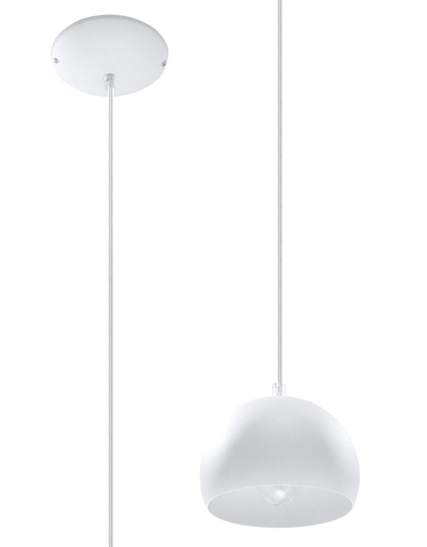 Biała Lampa Wisząca BOLA 1 SL.0365