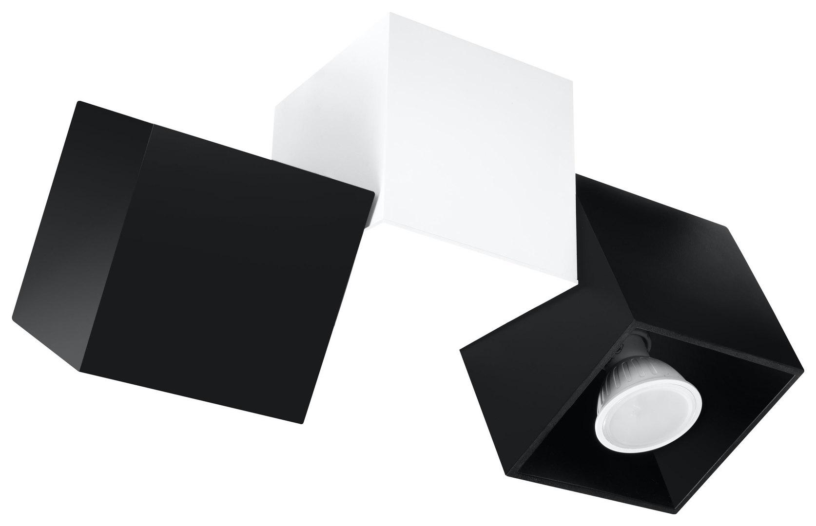 Plafon OPTIK NERO 3 Czarny/Biały SL.0474