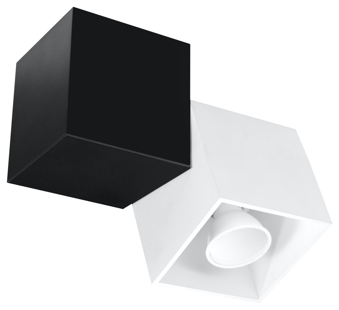 Plafon OPTIK BIANCO 2 Czarny/Biały SL.0475