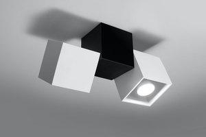 Plafon OPTIK BIANCO 3 Biały/Czarny SL.0476 small 1