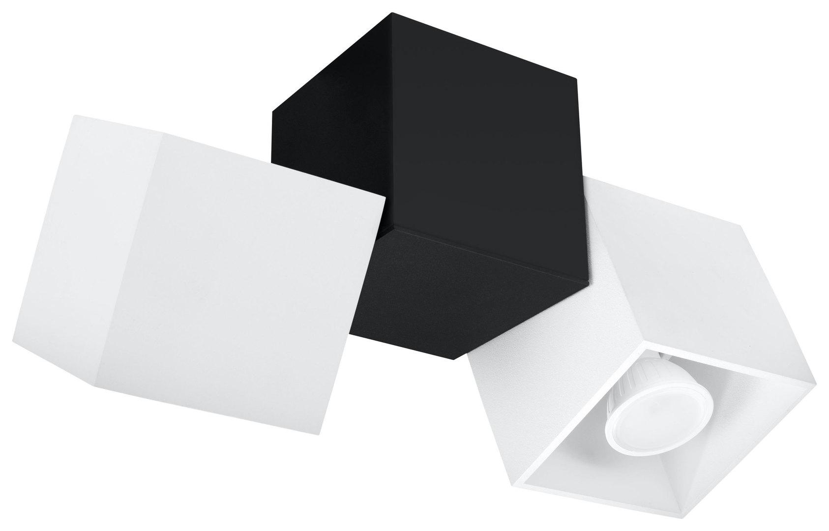 Plafon OPTIK BIANCO 3 Biały/Czarny SL.0476
