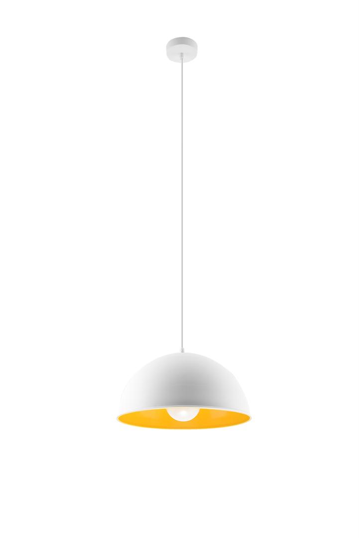 Lampa wisząca OKTAVIA biało/złota SL.0534