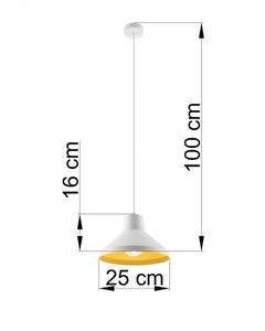 Lampa wisząca PALOMA biało/złota SL.0538 small 3