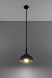 Lampa wisząca SYBILLA czarno/złota SL.0541 small 2