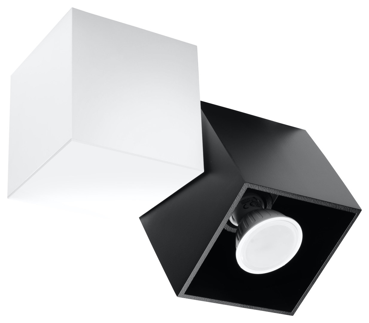 Plafon OPTIK NERO 2 Biały/Czarny SL.0473
