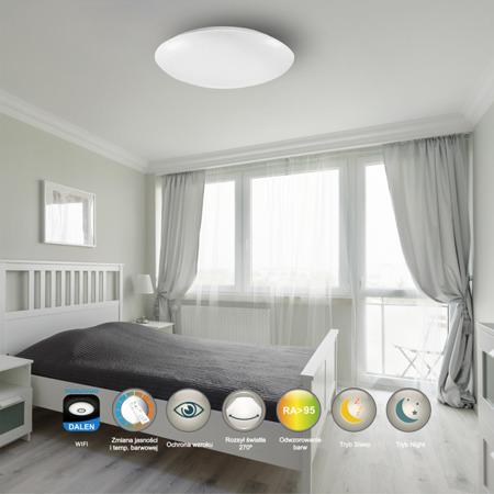 LAMPA WEWNĘTRZNA (SUFITOWA) DALEN CEILING DL-C515TW