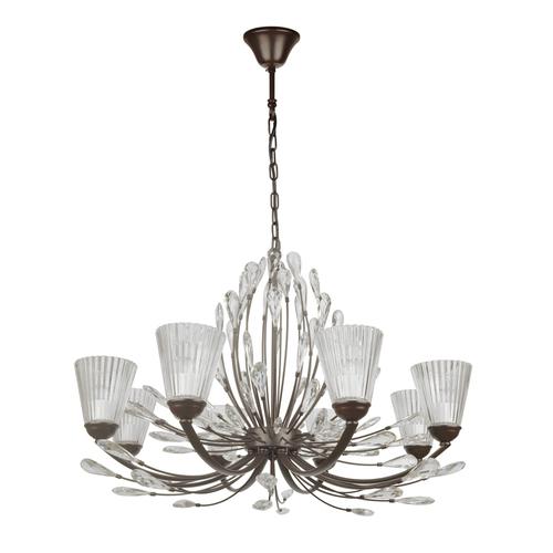 Lampa wisząca Leticia Flora 8 Czarny - 343012008