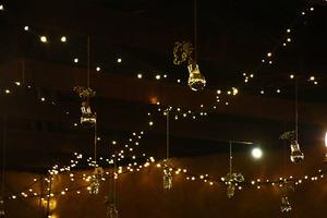 Girlanda świetlna 20 m 40 oprawek 15W E27 czarna oświetlenie dekoracyjne small 2