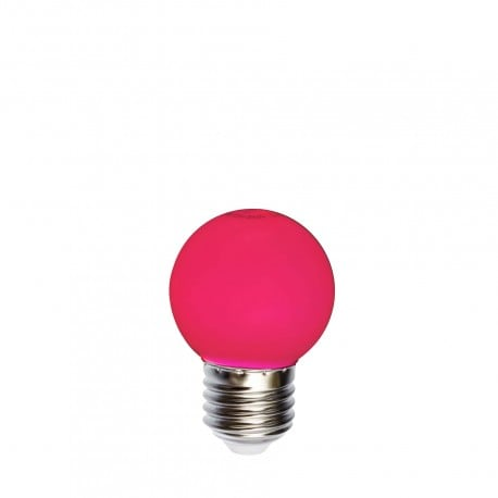 Żarówka do girland LED kulka 45mm 1W czerwona