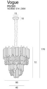 Vogue lampa wisząca P0283 Max Light small 4