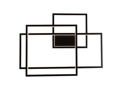 Geometric Kinkiet czarny z funkcją ściemniania światła W0233D Max Light