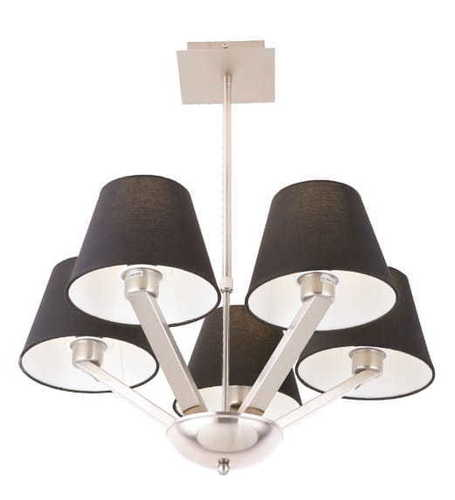 ORLANDO lampa wisząca czarna 5103/5A BK/NM Max Light