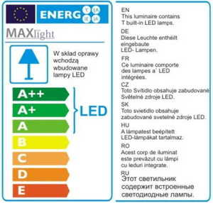 LINEAR lampa sufitowa duża czarna C0175 Max Light small 2