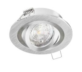 Oprawa wpuszczana okrągła z regulacją OPAL aluminium szczotkowane