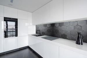 Fototapeta 3D Honeycomb, antracyt, beton, Hexagon, styl loft small 1
