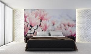 Fototapeta kwiaty, różowa magnolia, wiosna, fototapeta do sypialni small 1