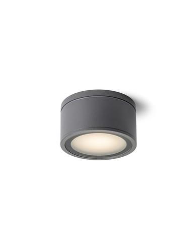 Nowczesny plafon zewnętrzny IP44 Merido R10430 antracyt Redlux + żarówka LED