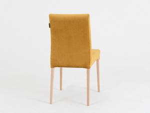 Krzesło tapicerowane DIANA, naturalny buk, marakuja small 3