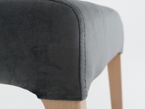 Krzesło tapicerowane szare DIANA, buk small 4