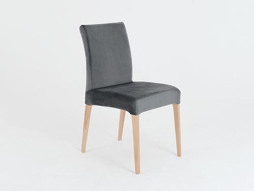 Krzesło tapicerowane szare DIANA, buk