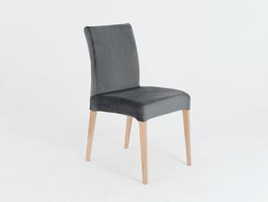 Krzesło tapicerowane szare DIANA, buk small 0