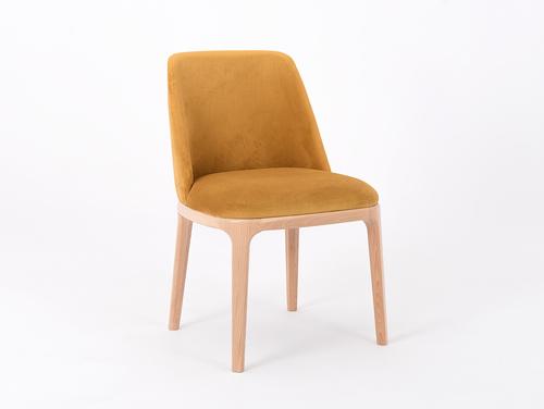 Krzesło skandynawskie tapicerowane LULU marakuja