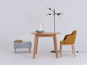 Krzesło fotel LULU ARMS, buk, marakuja small 2