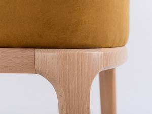 Krzesło fotel LULU ARMS, buk, marakuja small 4