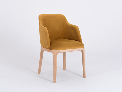 Krzesło fotel LULU ARMS, buk, marakuja