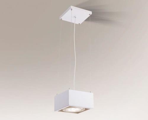 Lampa wisząca kwadratowa UTO 5505 Shilo GU10 ES111 50W