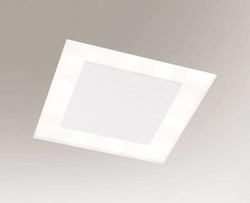 Oprawa wpuszczana biała BANDO 3325-B Shilo 18xE27 9W kwadratowa