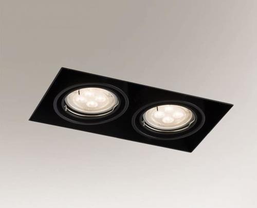 Downlight czarny OMURA 3302 2x GU10 50W