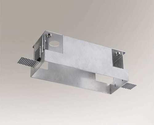 Skrzynka montażowa OMURA 3338 na lampę trzypunktową, bezśrubowy montaż lamp