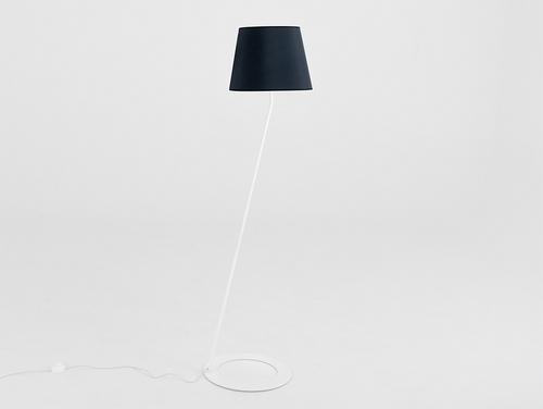 Lampa podłogowa SHADE FLOOR - klosz biały, czarny