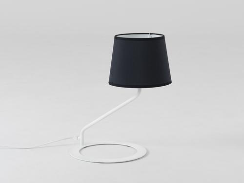Lampa stołowa SHADE TABLE - klosz biały, czarny