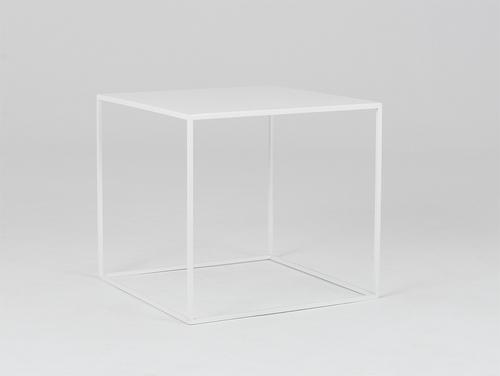 Stół kawowy TENSIO METAL 50 - biały