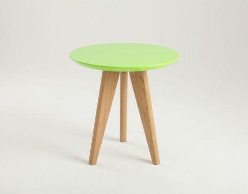 Stolik OSLO S - zielony, jesion
