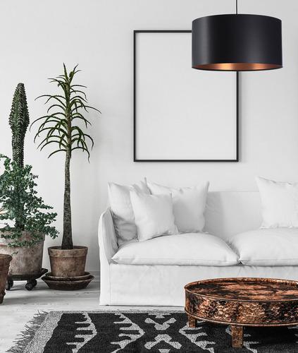 Lampa wisząca czarno miedziana LEXIE E27 60W latex, satyna