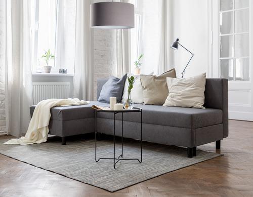 Lampa walec Leather tapicerowana, szary E27 60W
