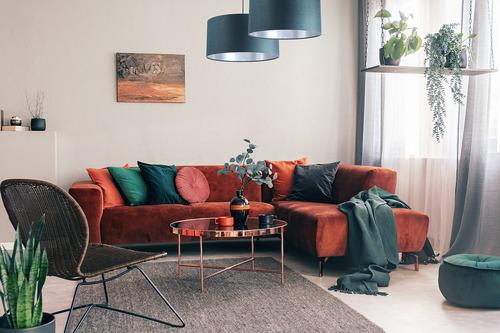 Leather - lampa wisząca, tkanina aksamitna, srebrny E27 60W