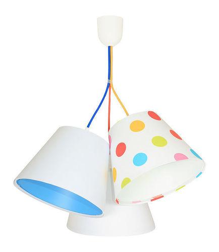 Lampa sufitowa do pokoju dziecięcego BUCKET E27 60W kolorowe kropki, biel