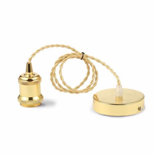 Lampa wisząca złota minimalistyczna