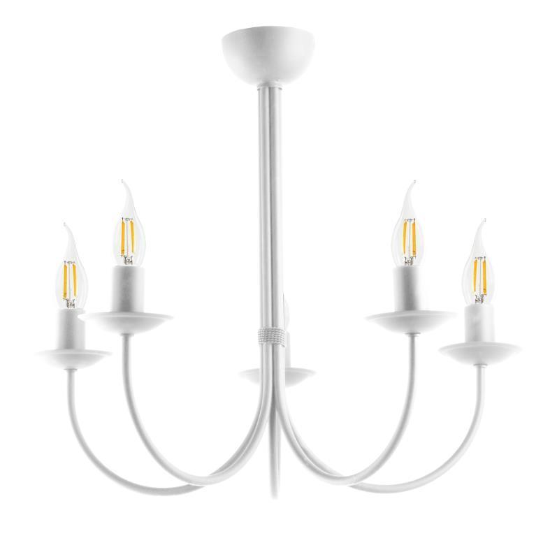 Nowoczesna Lampa Sufitowa Samanta 5 Biała