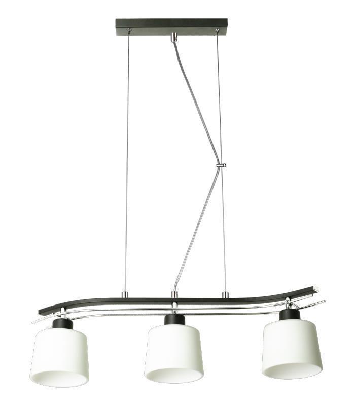 Klasyczna Lampa Wisząca Olimp 3 Czarna