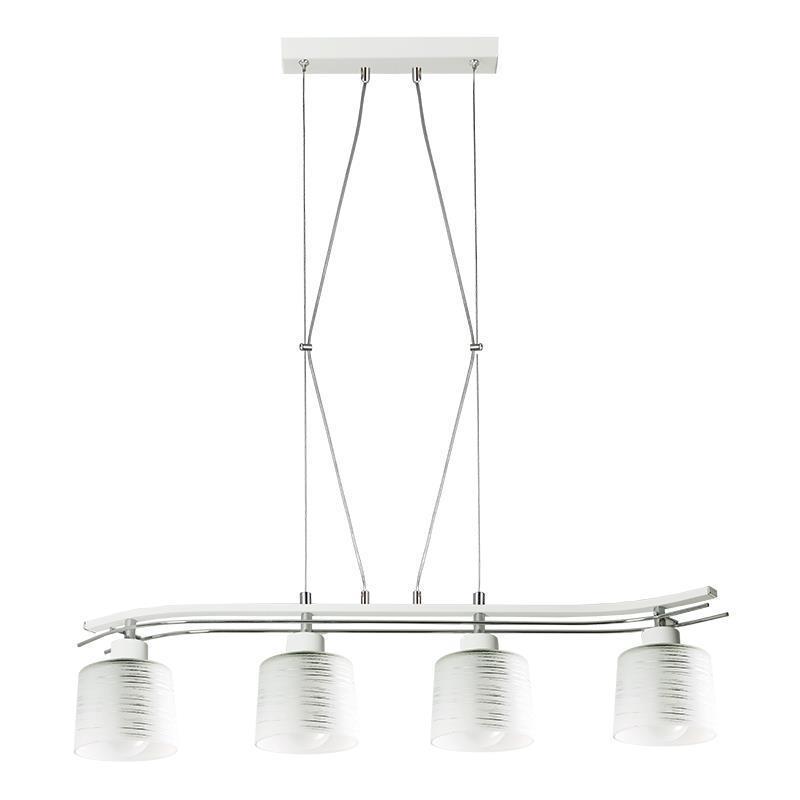 Klasyczna Lampa Wisząca Olimp 4 Biała