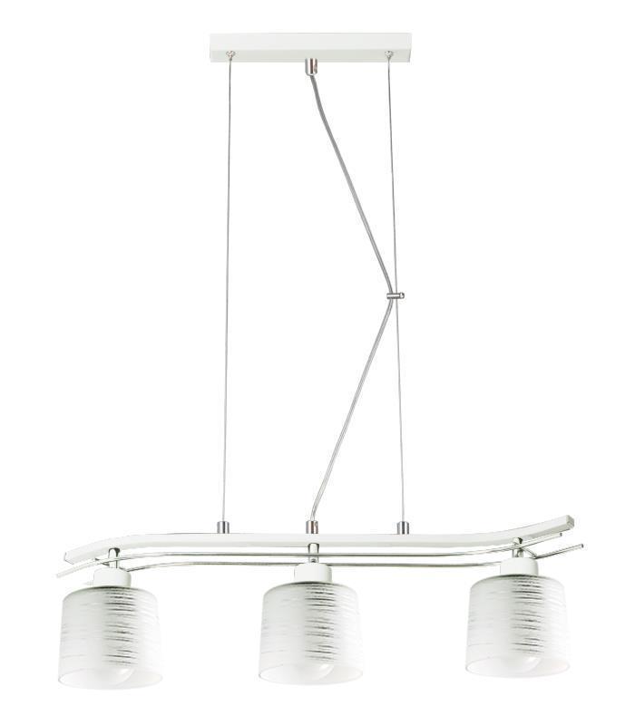 Klasyczna Lampa Wisząca Olimp 3 Biała
