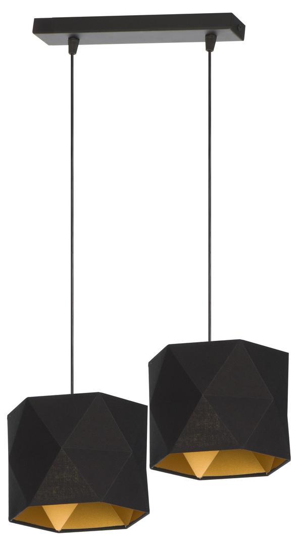 Klasyczna Lampa Wisząca Taida 2 Czarna